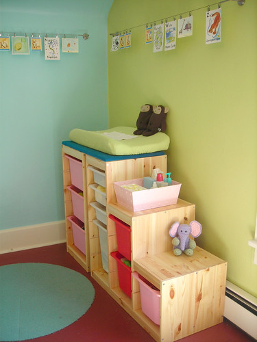 trofast system as a changing table