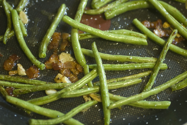 garlicky green beans with bacon | Flickr - Photo Sharing!