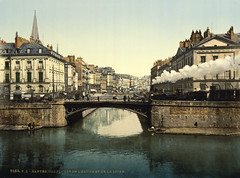 Confluence of Erdre and Loire, Nantes, France, ca. 1897