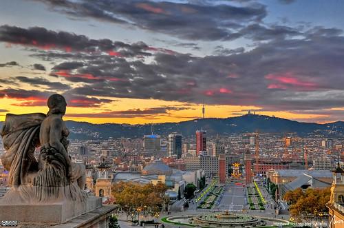 Barcelona sunset HDR