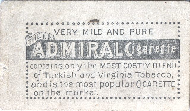 Header of Admiral Cigarette