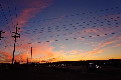 road travel sunset sky utah ut nikon shell gasstation nikkor cedarcity d90 nikond90 18105mmf3556gedafsvrdx