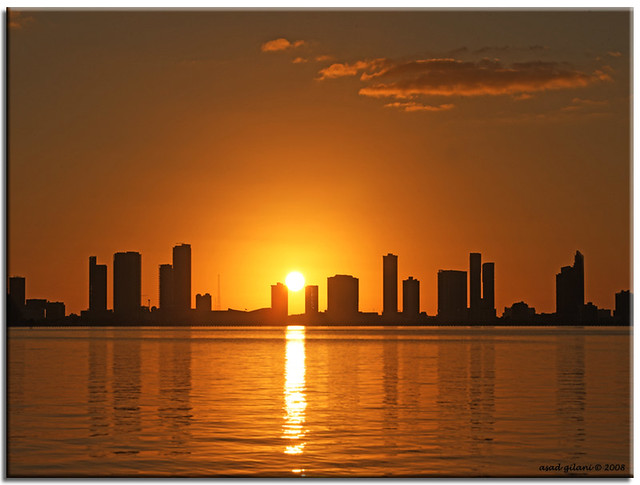 miami sunset..