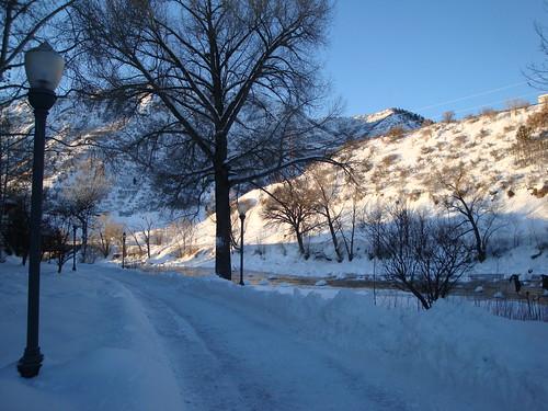 christmas morning winter vacation snow sunrise river colorado stream hiking trail biking co durango durangocolorado animasriver clearbluesky animasrivertrail