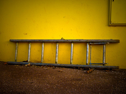 Yellow wall and ladder
