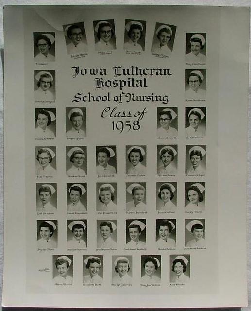 iowa lutheran hospital school of nursing class of 1958