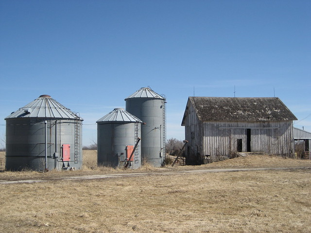 Silos and Shed