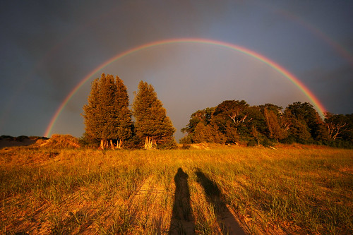 the most amazing rainbow (double) i've ever seen (north manitou island)