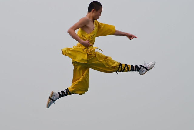 Flying Shaolin Kung Fu Monk