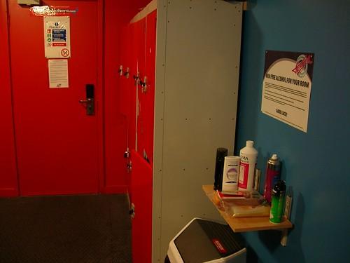 Generator Hostel: lockers and hitec door