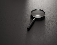 Magnifying glass and reflection by ◄bl►