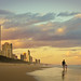 Sunset walk, Surfer's Paradise beach, Queensland, Australia by Lisa Bettany {Mostly Lisa}