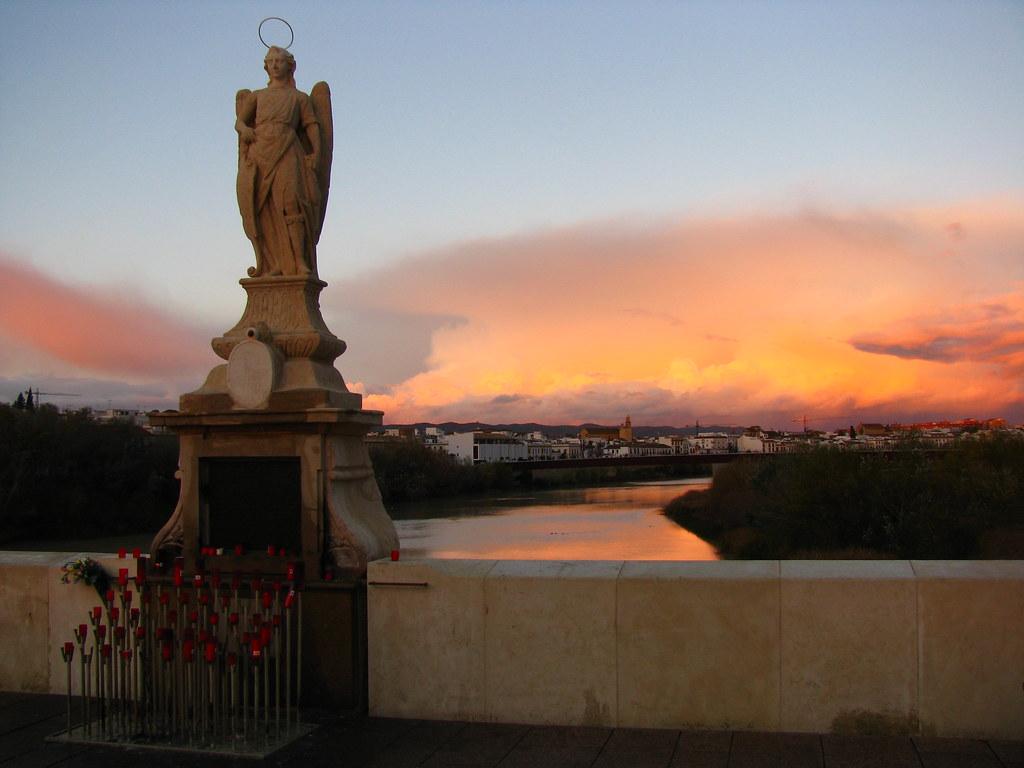 Religous Statue on Puente Romano