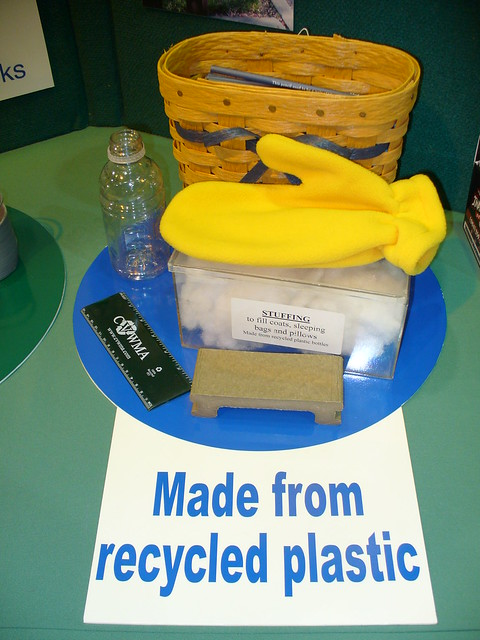 stuff made from recycled plastic plastic bottles can be