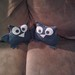Owls on the couch!