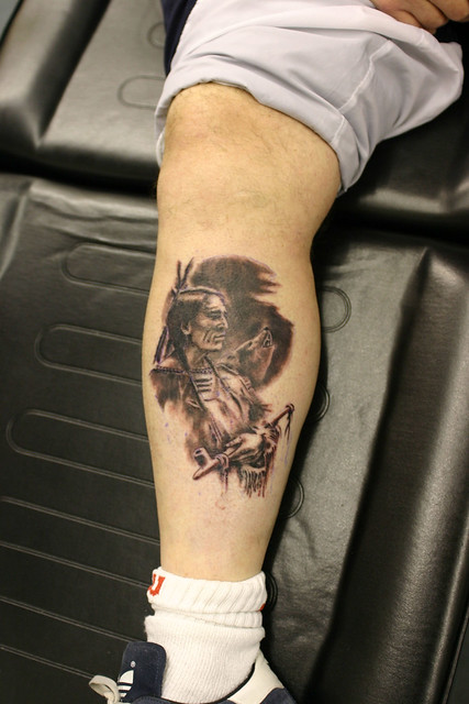 Indian-&-Wolf Tattoo