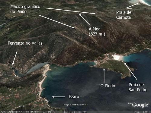 Macizo granítico do Pindo (entre Ézaro e Carnota)