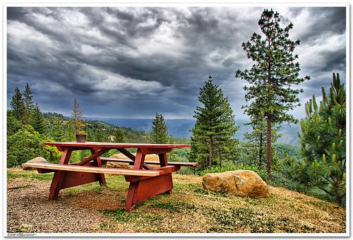 california clouds bench interestingness bravo picnic view explore foresthill 57 sierrafoothills blueribbonwinner 1raw impressedbeauty sorrypaul dphdr