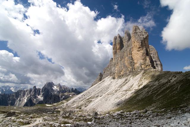 Las Tres Cimas de Lavaredo, Las Dolomitas, Italia