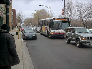 Eastbound CTA Route # 78 Montrose Avenue bus approaching the stop at North Lincoln avenue. Chicago Illinois. April 2007. by Eddie from Chicago