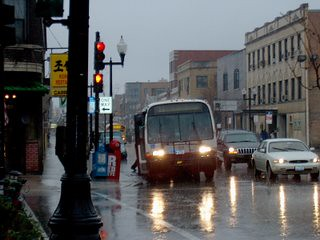 Southbound CTA Route # 11 Lincoln Avenue bus on a rainy morning. November 2006. by Eddie from Chicago