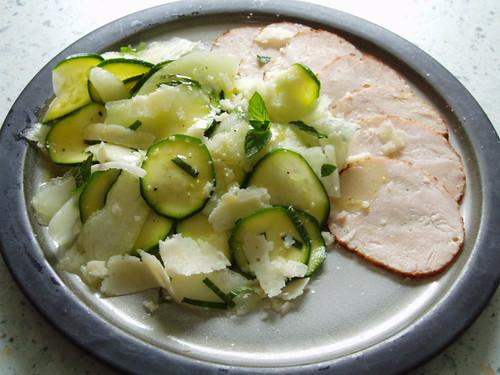 Mein Beitrag Zucchini-Melonen-Salat