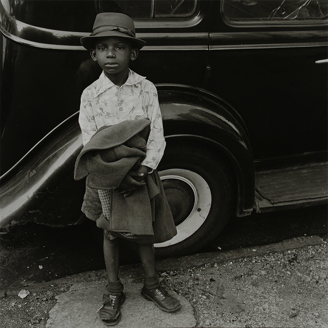 Boy and Car, New York City, 1949