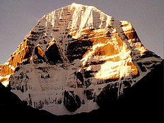 Golden view of mount kailsh