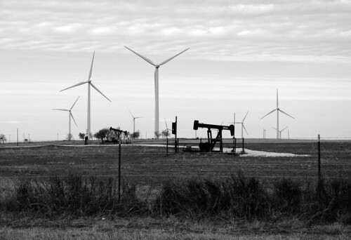 Windmills and Oil fields