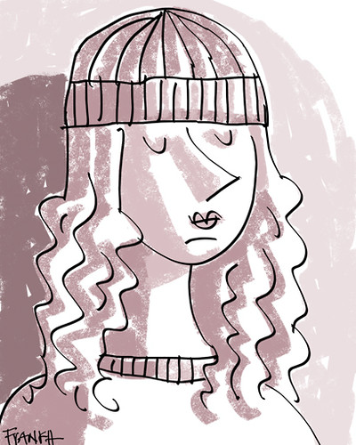 girl with wool hat // chica con gorro de lana by frank h.