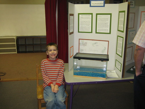 Jesse and his science fair project on Frogs