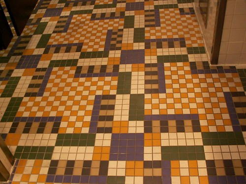 Rock & Roller Coaster - Restrooms Floor tile detail
