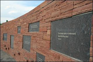 Image of Columbine Memorial near Columbine. inscriptions plaques littletoncolorado columbinememorial