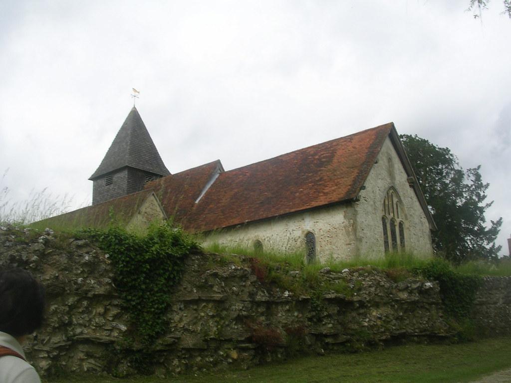 Silchester Church Above the Roman wall. Mortimer to Aldermaston