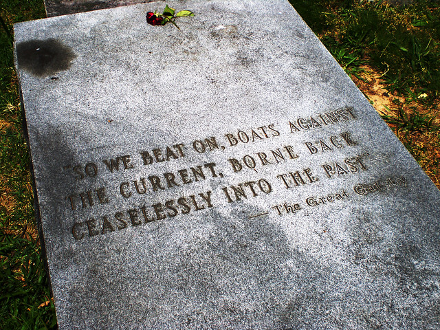 gatsby quote on fitzgerald's grave