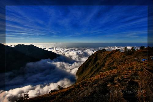 blue sunset sky bali cloud trek indonesia landscape volcano view hd lombok hdr mountian cs3 rinjani photomatix colourartaward rtwoverland pelawanganii