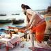 Small photo of Ganga Arati at morning, Varanasi