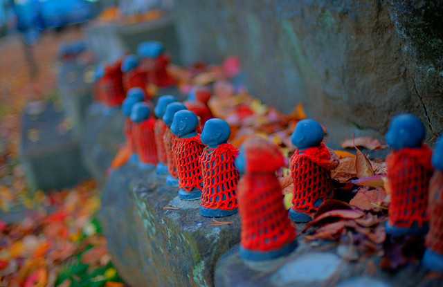 Miniature Jizo at Chomeiji Temple