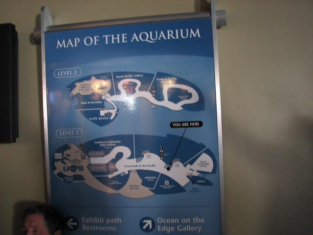 Map Of The Aquarium Of The Pacific January 10 2009 Long
