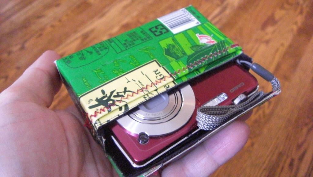 Green box camera slides out