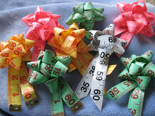Measuring Tape Ribbon Rossettes