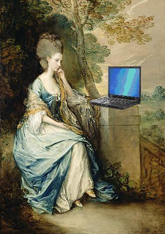 Anne, Countess of Chesterfield, Blogging, after Thomas Gainesborough; CC BY 2.0 by Mike Licht