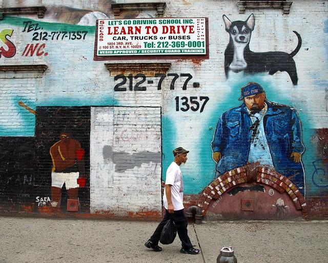 Big pun graffiti mural spanish harlem manhattan new for Big pun mural bronx