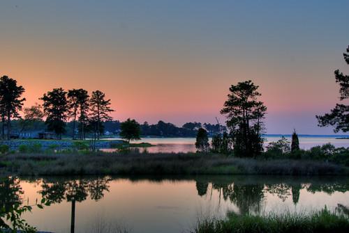 ocean sunset sky beach water clouds bay sand surf waves dusk calm va chesapeake deltaville