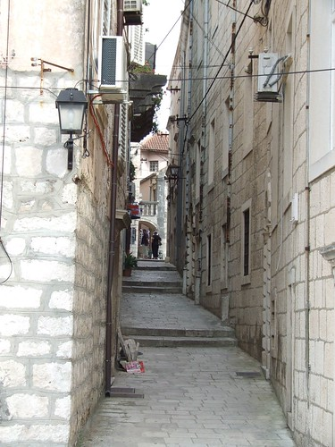 Korcula szűk utcái