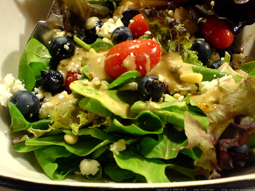 blueberries in the salad!   DSC00789