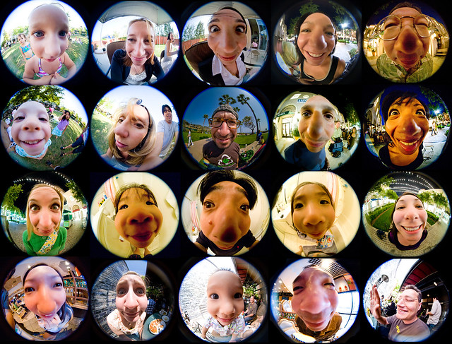 Fantastical Fisheye Faces