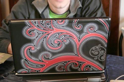skinned laptop