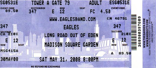 EAGLES Madison Square Garden