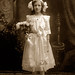 vintage little girl in white